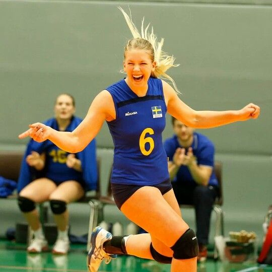 Team Sweden scores at the qualifier for the 2014 CEV U19 Volleyball European Championship - Women