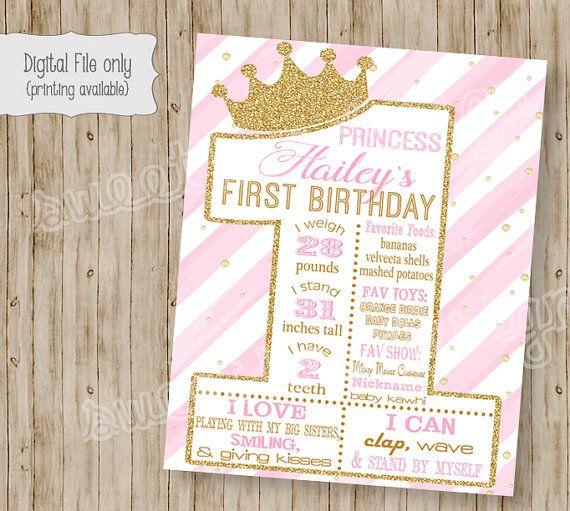Una invitación de cumpleaños de princesa / por SweetBeeDesignShoppe
