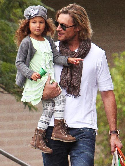 I know Gabe is not an actor but hey TEAM GABE!  Gorgeous Gabriel Aubry and Nahla, her Daddy's Girl