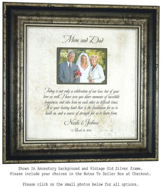 Ideas For Wedding Gifts For Parents: Parent Wedding Gift, Parent Thank You Gift, Parent Wedding