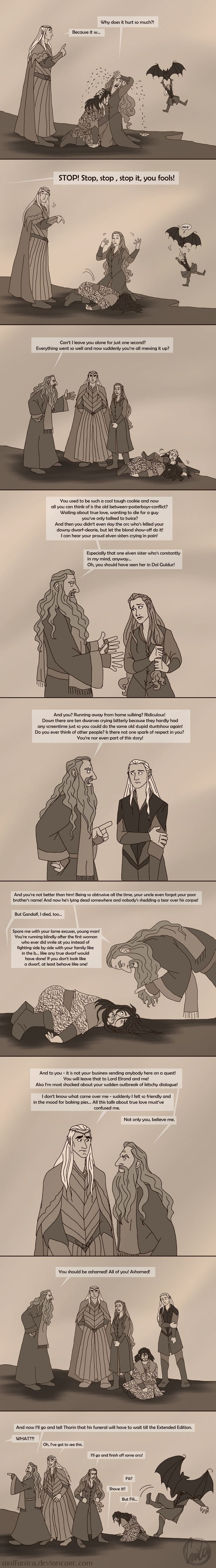 This perfectly sums up my feelings about Battle of the Five Armies. The Hobbit: Gandalf to the Rescue! by wolfanita on DeviantArt
