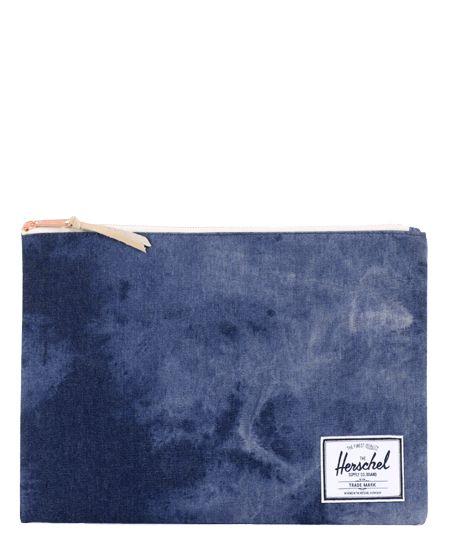 Herschel Supply/ハーシェル・サプライ - Cotton Canvas - Network ポーチ XL (Acid Wash Denim) - SIAMESE (サイアミーズ) オンラインセレクトショップ