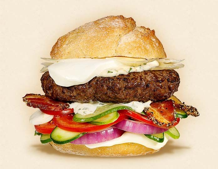 The Gypsy | Fresh Mozzarella Cheeseburger Recipes: Ranch Dresses, Red Onions, Peppers Bacon, Mozzarella Cheeseburgers, Slices Red, Beef Patties, Gypsy Burgers, Fresh Mozzarella, Cheeseburgers Recipes