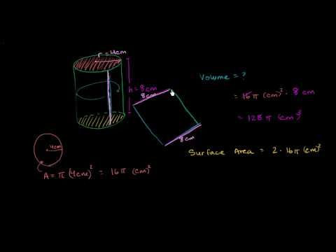 Cylinder Volume and Surface Area - YouTube