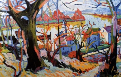André Derain, La Seine à Chatou on ArtStack #andre-derain #art