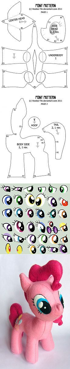 How to sew a pony from the series My Little Pony