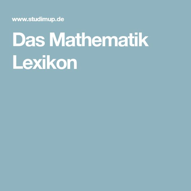 Das Mathematik Lexikon