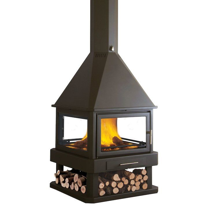Bronpi Huelva Wood Central Fireplace Modern Central Fireplaces Wood Burning Stove Fireplaces For Sale Fireplaces Uk