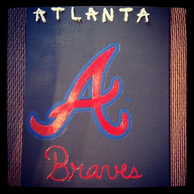 Atlanta Braves painting i did: My Friend, Friend Caitlin, Braves Painting, Paintings, Atlanta Braves