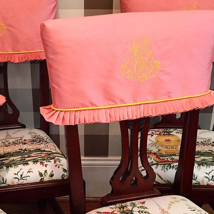 Dining Chair Trends For 2016: Design Trend: Monogrammed Chairs