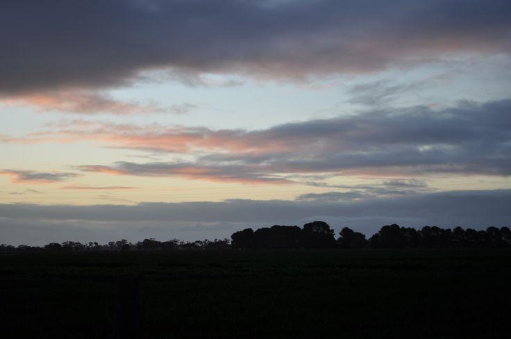 L1M1AP2 Nikon D5000 ISO200 No Flash Auto sunset. Landscape dark while the sky has wonderful colours.