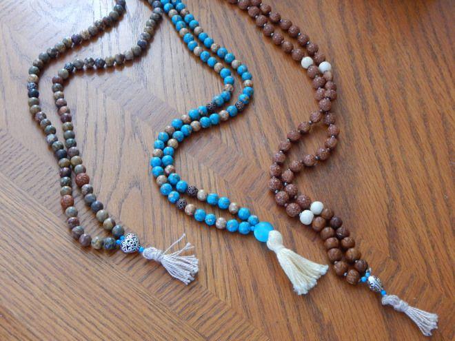 Learn how to make a mala necklace or bracelet | diy, meditation