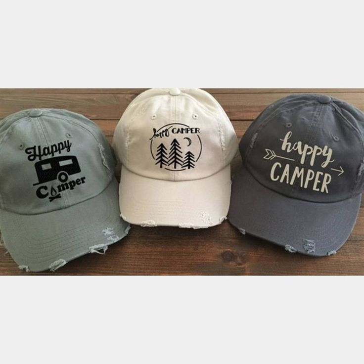 ad Cute little Happy Camper baseball hats in 10 different colors!! Only $18 shipped!