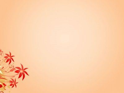 Simple flower template PPT Backgrounds