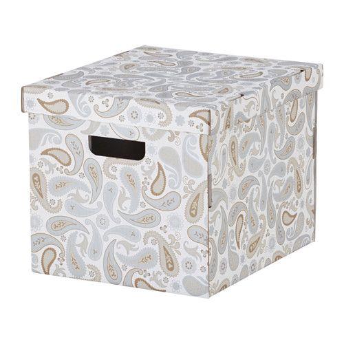 СМЕКА Коробка с крышкой IKEA Благодаря прорезным ручкам с двух сторон коробку удобно поднимать и переносить. | 99