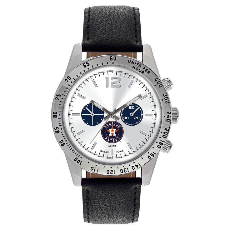 Men's Game Time MLB Letterman Sports Watch - Black - Houston Astros