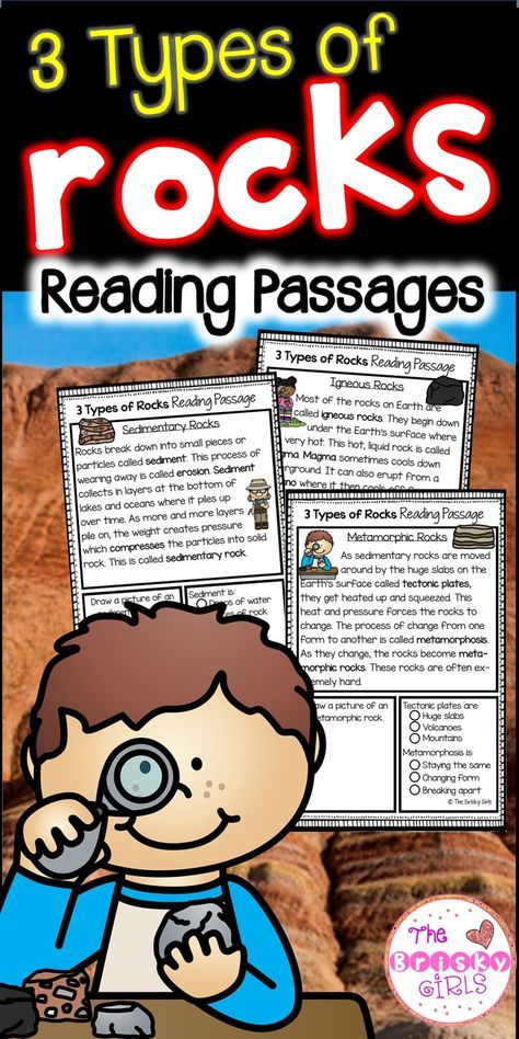 3 Types of Rocks Reading Passages