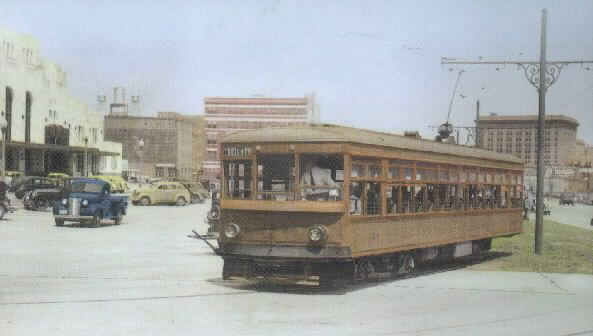 Houston had streetcars!  Long before freeways crisscrossed the city, most Houstonians got around on the trolley.  At its peak in the 1920's, the system encompassed two dozen routes operating over 90 miles of track.   Now gone with hardly a trace, few realize the important role it played in the development of modern Houston.