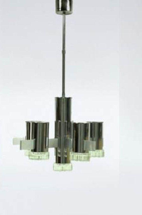 Lampadario Originale Gaetano Sciolari 1960 Di DesignforlivingItaly