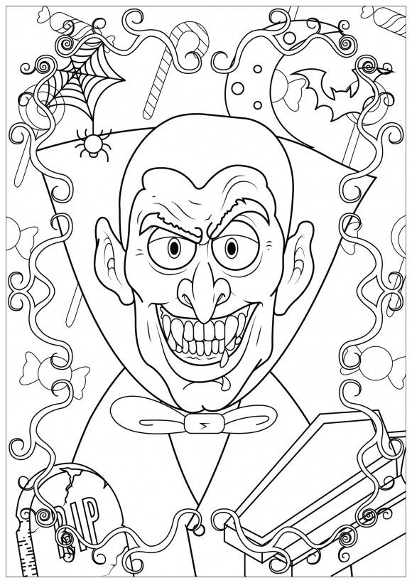 Halloween Coloring Pages For Adults Halloween Coloring Pages