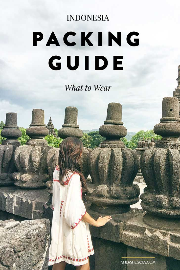 A handy packing guide for what to wear in Indonesia, the world's largest Muslim country.