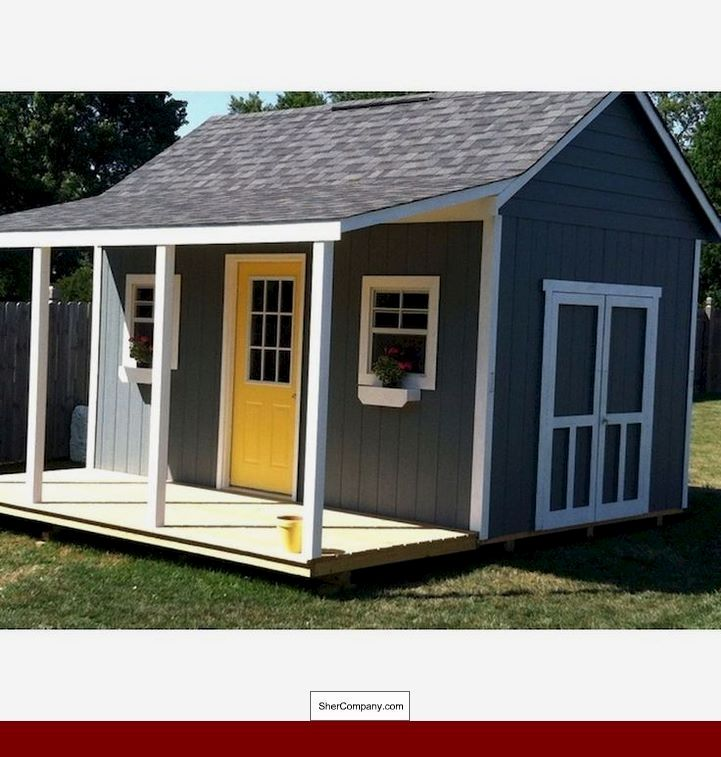 12x12 Gambrel Shed Plans And Pics Of 16x24 Gable Storage Shed Plan 69037829 Newbackyardshed Woodshedplans Shed With Porch Backyard Sheds Diy Shed Plans