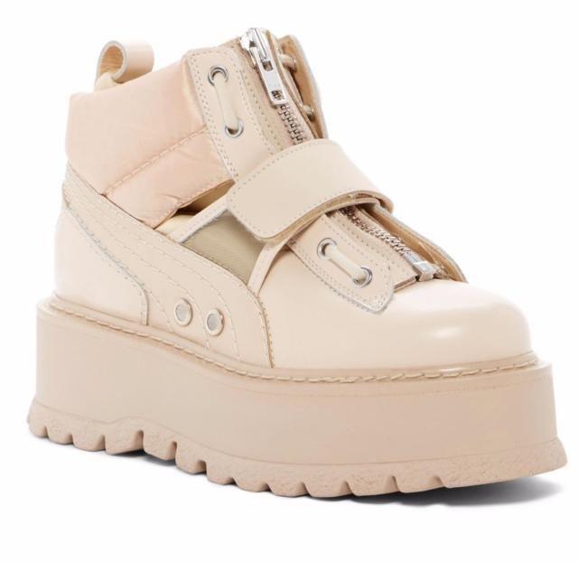 Beige Platform Rihanna by FENTY x PUMA Sneaker Boot 6.5 US