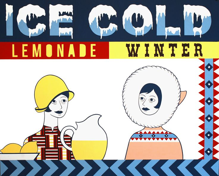 Asuka Ohsawa, Ice cold lemonade/winter, 2013, tempera su carta