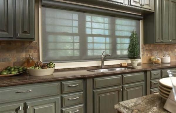 Modern living room window treatments hampton bay window - Living room bay window treatments ...