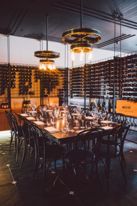 The gorgeous wine room at The Grille by Eichardt's in Queenstown, New Zealand.