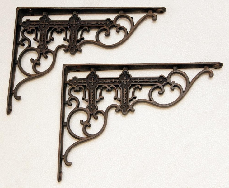 Victorian brackets + shelving for kitchen