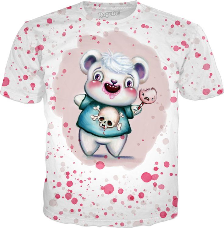 New edit of my Creepy Candy Bear is also on all-over-print t-shirts & stuff at my RageOn! store ✏️✨🍭🐻 Hope you like it ;-) xoxoxo Art & Illustration © Sarah M Wall 2017.  You can also follow my art & Merlin, my Great Pyrenees puppy, over at my Instagram account: http://instagram.com/TheArtofSarahMWall