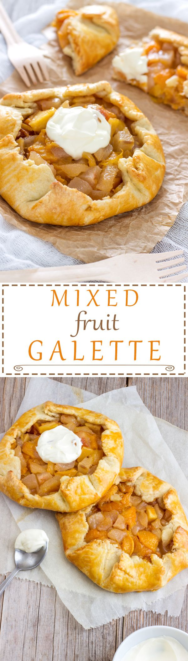Mixed Fruit Galette is one of the easiest things to bake! What is great about galette is that you can use any fruit you like. It's rustic, which also means it doesn't have to look perfect but it still will taste amazing! Easy recipe! | happyfoodstube.com
