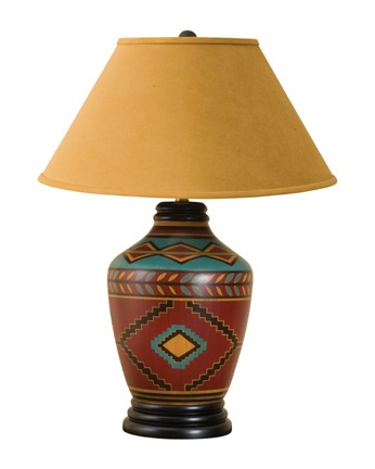 Aspen Diamond Table Lamp - Western Decor - Cabin Decor