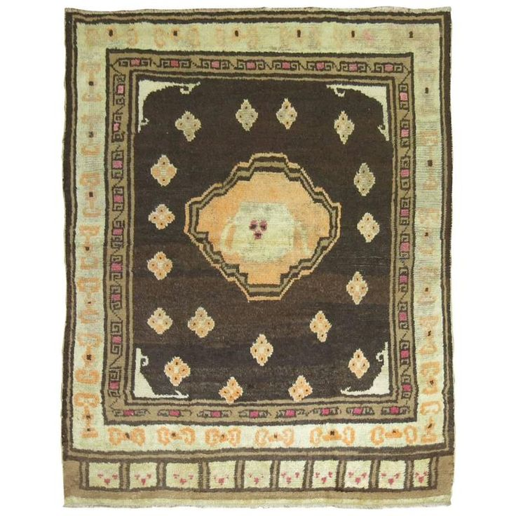 East Turkestan Rug | From a unique collection of antique and modern central asian rugs at https://www.1stdibs.com/furniture/rugs-carpets/central-asian-rugs/