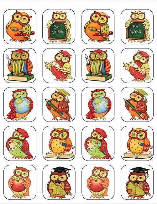 Wijze Uil - 20 Stickers   Uiltjes Stickers   allemaalstickersenzo