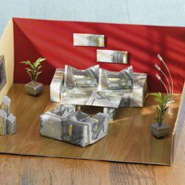 Geldgeschenk für Umzug / neue Möbel - Zimmereinrichtung aus Geldscheinen - gratis Pdf Anleitung
