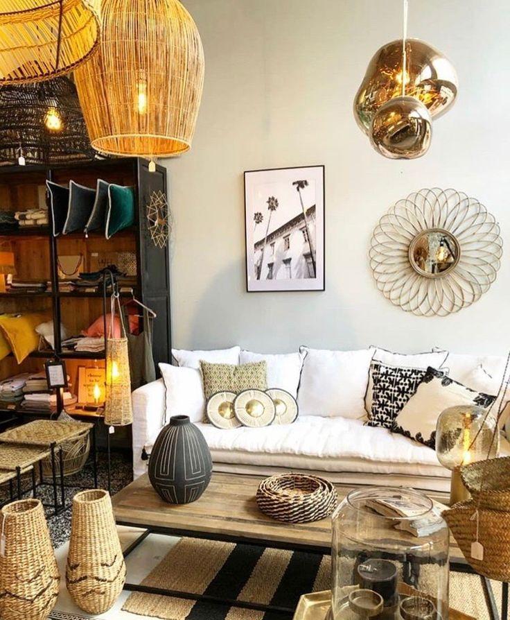 Canapé sur mesure Boheme lin lavé blanc et sofa cover ton