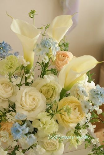 【今日の贈花】「優しさ」と「ひらひら」と|Flower note の 花日記 (横浜・上大岡 アレンジメント教室)