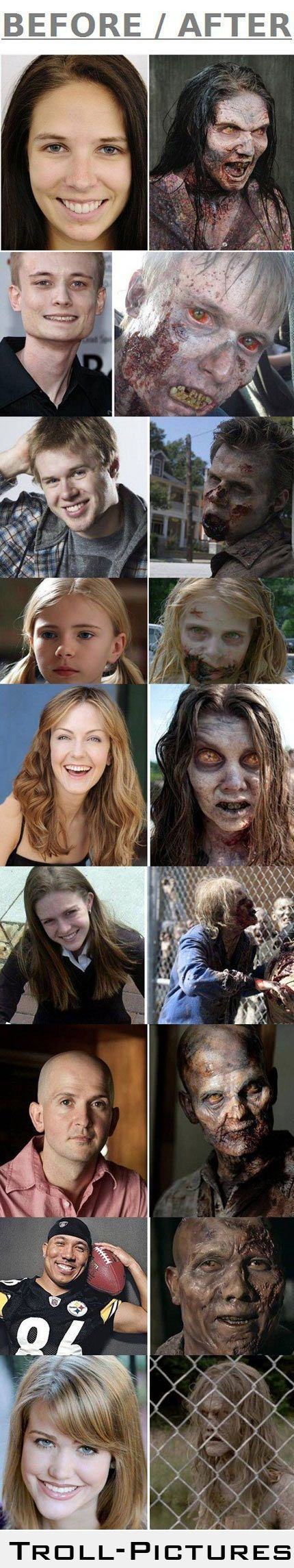 Make-up of The Walking Dead's Zombies -