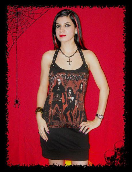 Immortal Dress Hordes Evil Black Metal Norway Halter by kittyvampdesigns