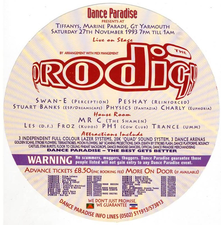 oh yeh Prodigy live '93 - BIG!