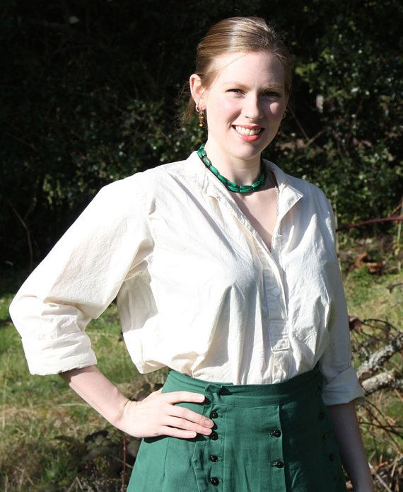 Cowgirls Shirt - This half placket button up shirt comes made from 100% cotton muslin or broadcloth. You have the option of it being all one