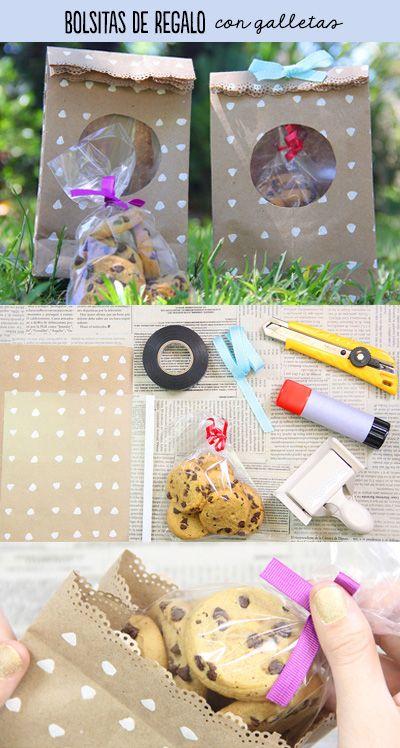 Bolsita de papel kraft decorada con el tutorial de papel deco casero, está muy sencilla y linda para ponerle un regalo. Algunos regalos pueden ser muy complicados, pero este resulta muy sencillo y delicioso.