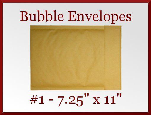 50 Kraft CD DVD 1 Mailer Bubble Padded Envelope 7.25 x 11 Made in America