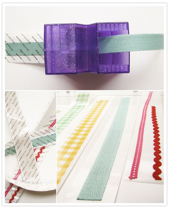 DIY Craft Tape- I have a Xyron, but never thought to run ribbon through it!!!