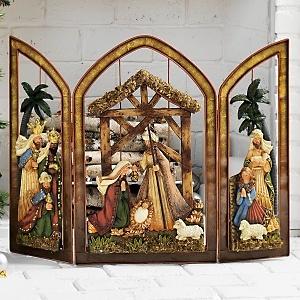 nativity fireplace screen at hsn com christmas pinterest Fireplace Mantel Christmas Nativity Yard Nativity Scene Patterns