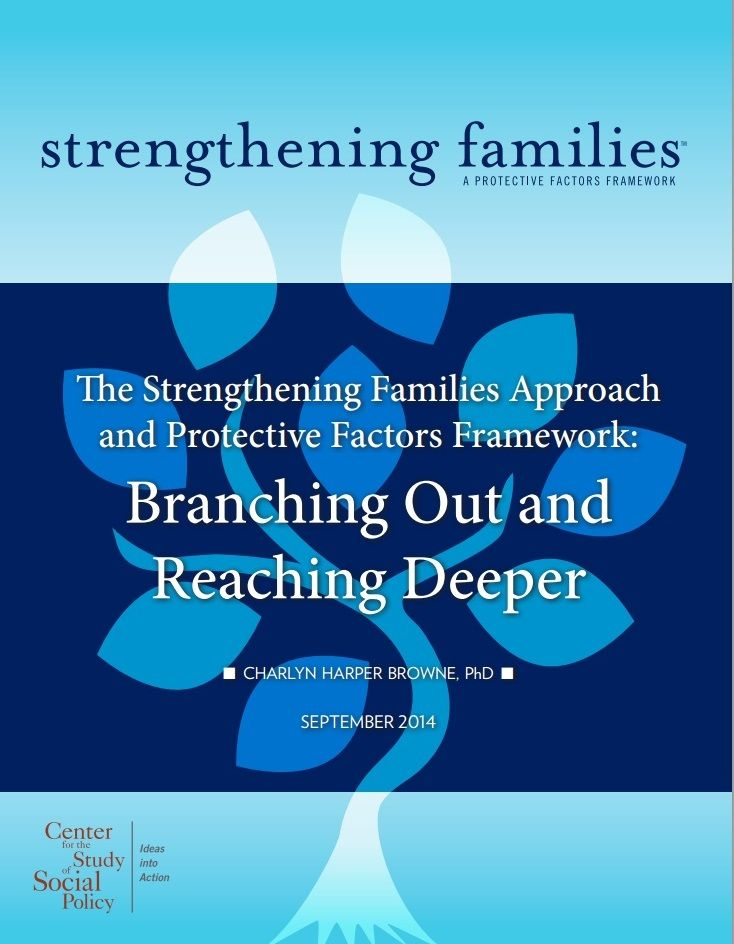 """Parents, system administrators, program developers, service providers, and policymakers can each benefit from learning about and using the Strengthening Families Approach and Protective Factors Framework in their efforts to ensure parents and children are on a path that leads to healthy development and well-being.""   From the Center for the Study of Social Policy."