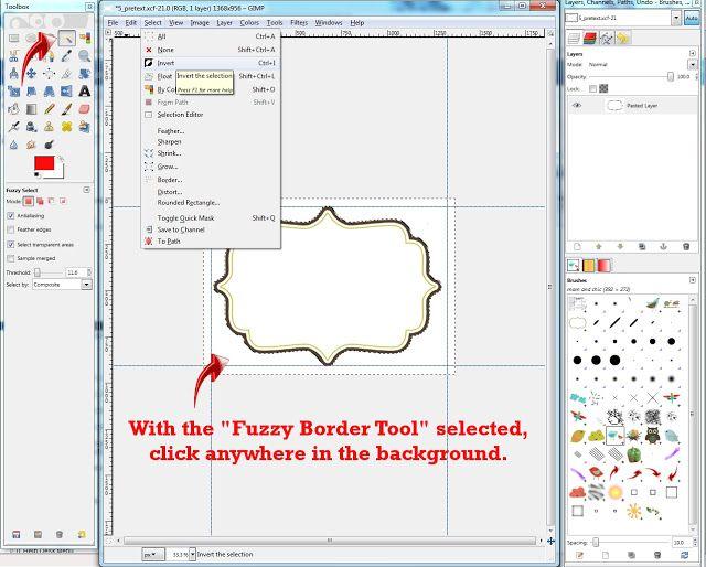 how to make part of an image transparent gimp