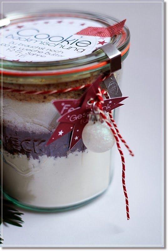 Meine bunte Wunderwelt: Cookies im Glas ---eine Geschenkidee mit Printout